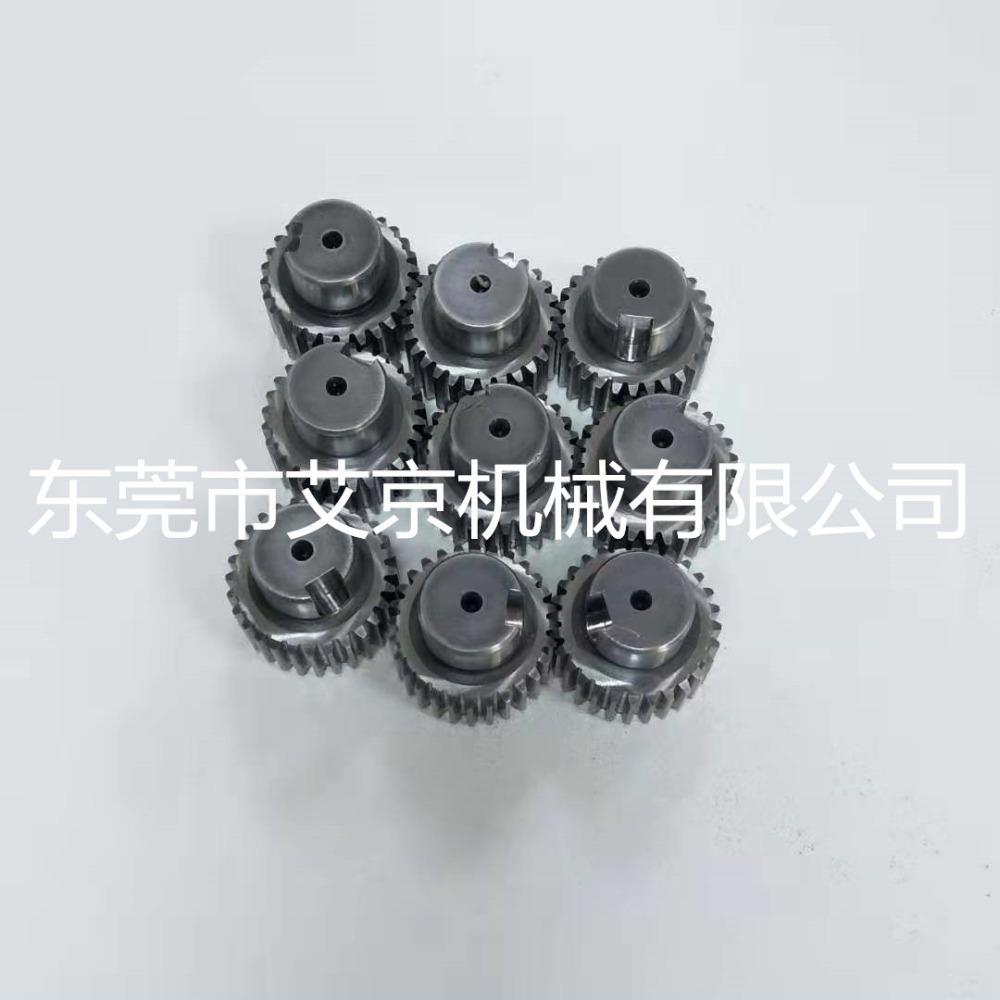 艾京生产高精度直齿轮轴桁架式机械手用斜齿轮