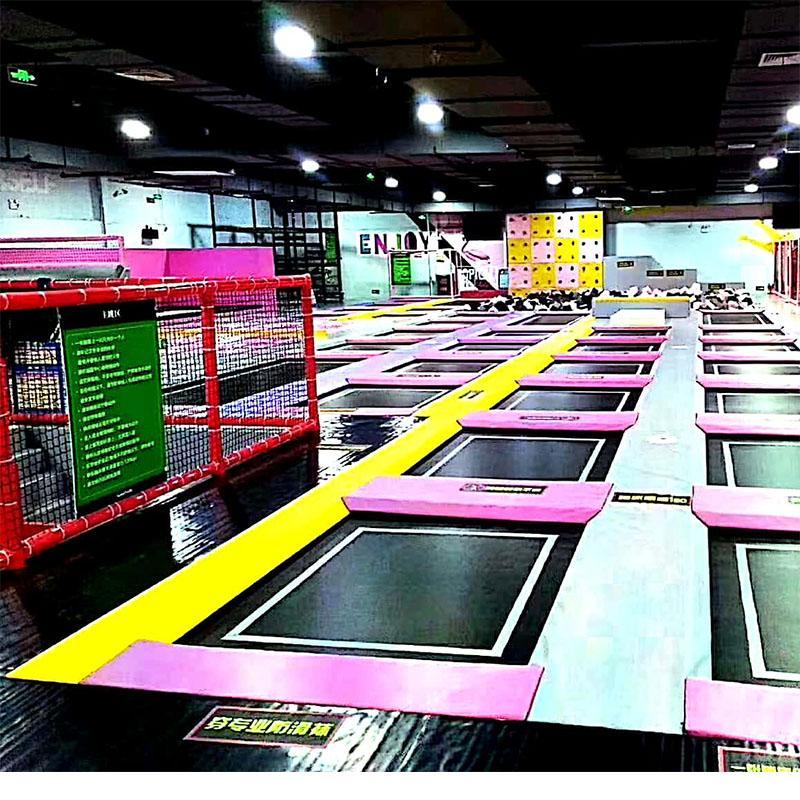 家用亲子娱乐超级大蹦床游乐设备生产厂家直销