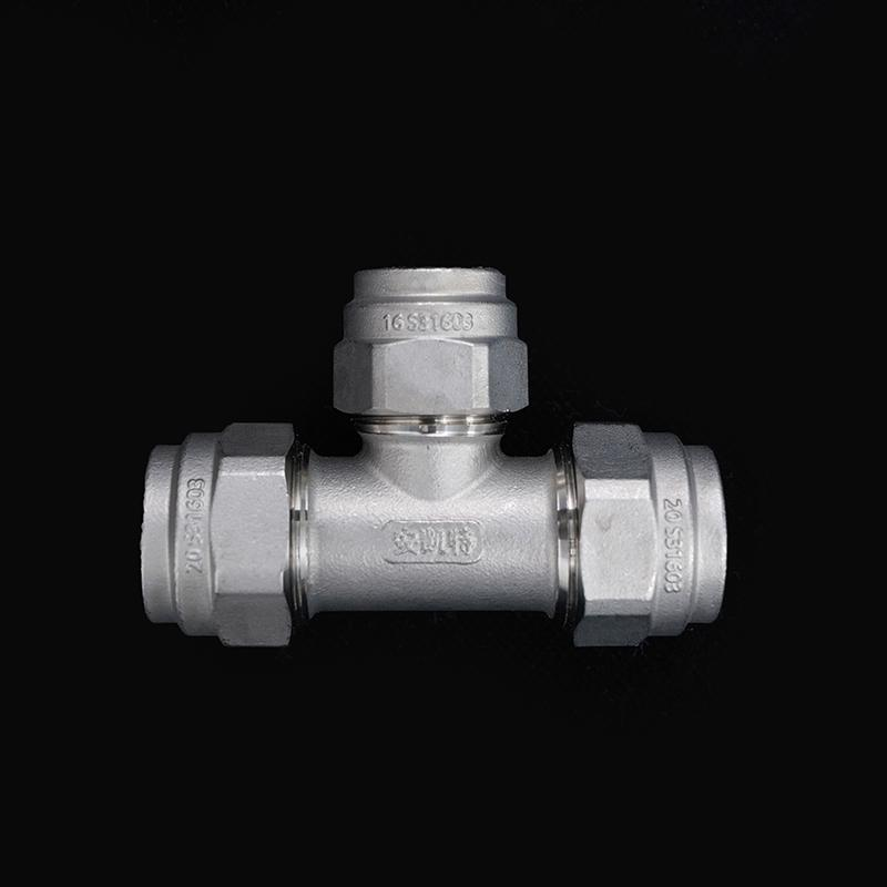 316L不锈钢波纹冷热水管异径三通厂家直销 诚招实力代理厂家订购直发De20