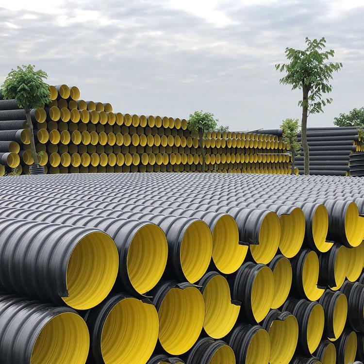 HDPE钢带增强螺旋波纹管 钢带波纹管 大口径排水排污管道