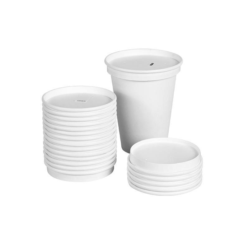 定制一次性纸质杯盖90口径加厚密封可降解盖子奶茶咖啡豆浆圆形纸杯盖 意点森昂