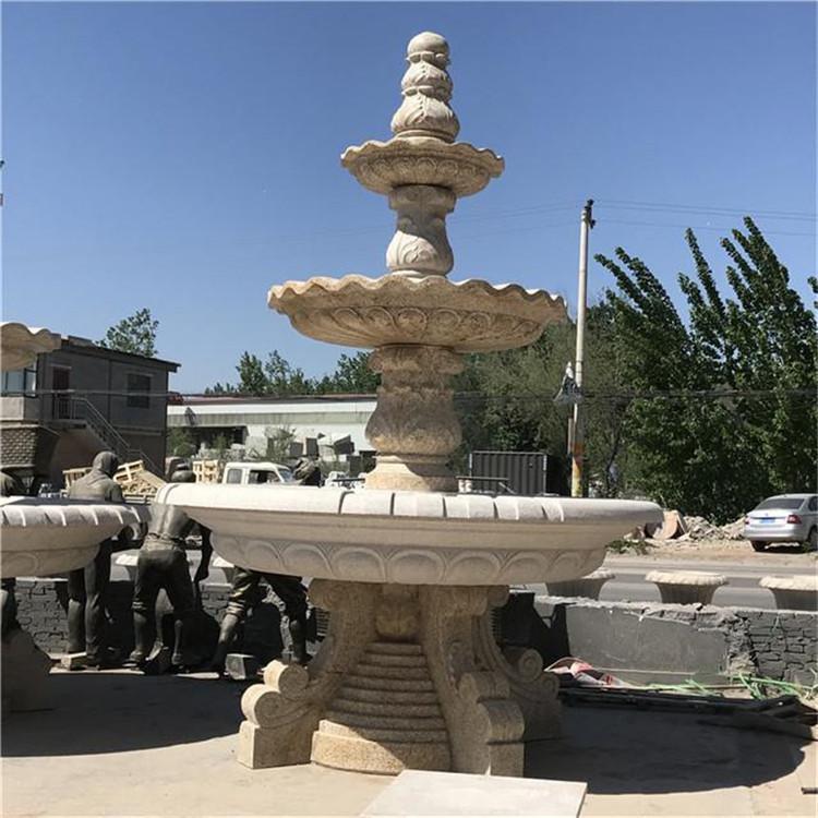 鸿煊石业公司 直销石雕喷泉 花钵 专业石雕厂家