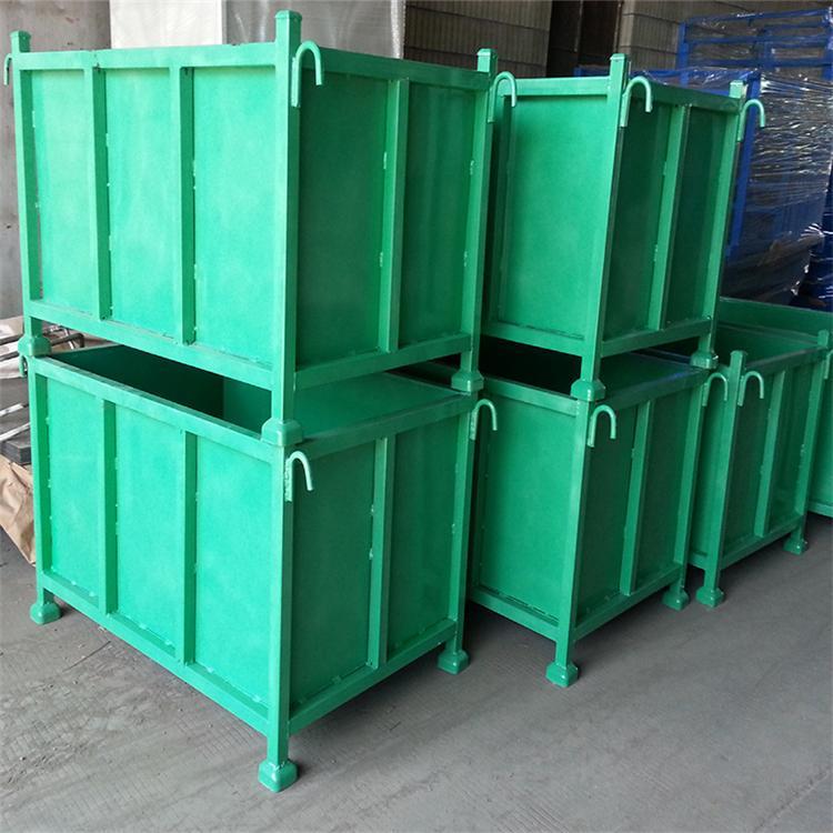 金属料箱 意昂无锡网格金属料箱定做厂家 可折叠堆垛