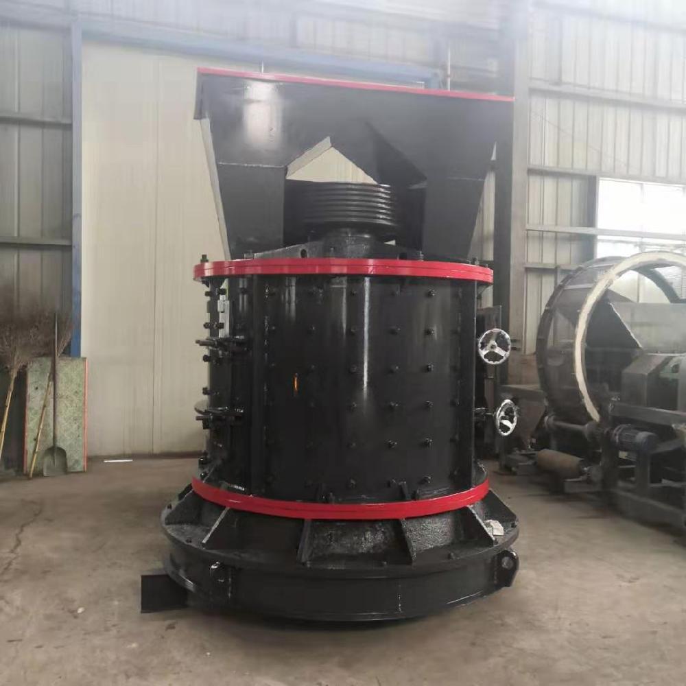 郑州科农 高炉渣立轴板锤制砂机价格 时产200吨大型砂石线骨料立式制砂机