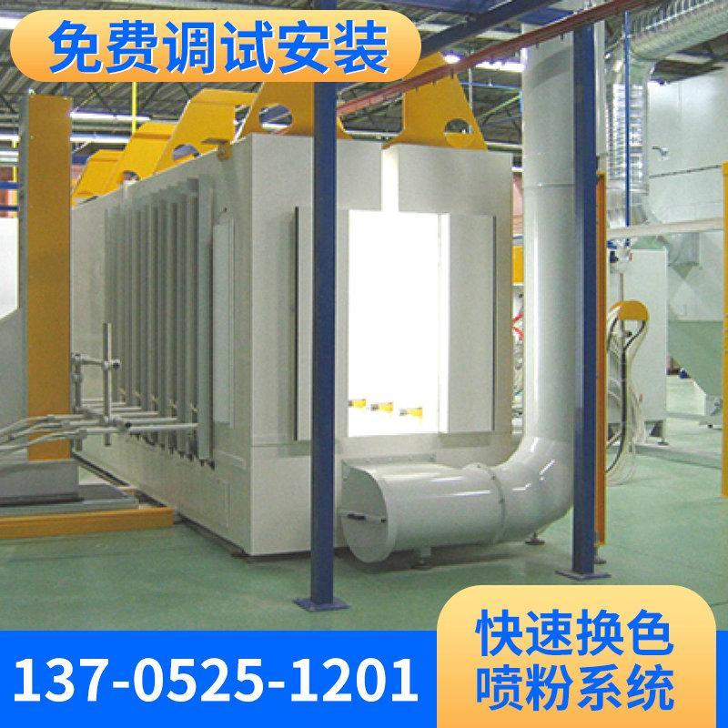 蓝魔-大旋风快速换色喷粉房系统 粉末回收系统喷粉室 涂装设备定做