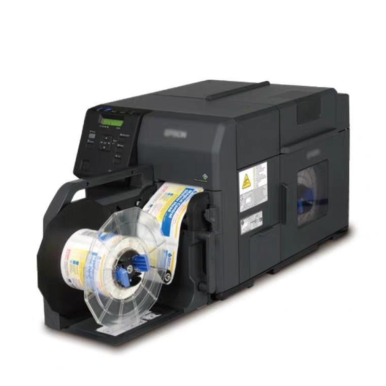 彩色不干胶标签打印机TM-C3520 TM-C7520全彩色条码二维码标签机 彩色标签解决方案