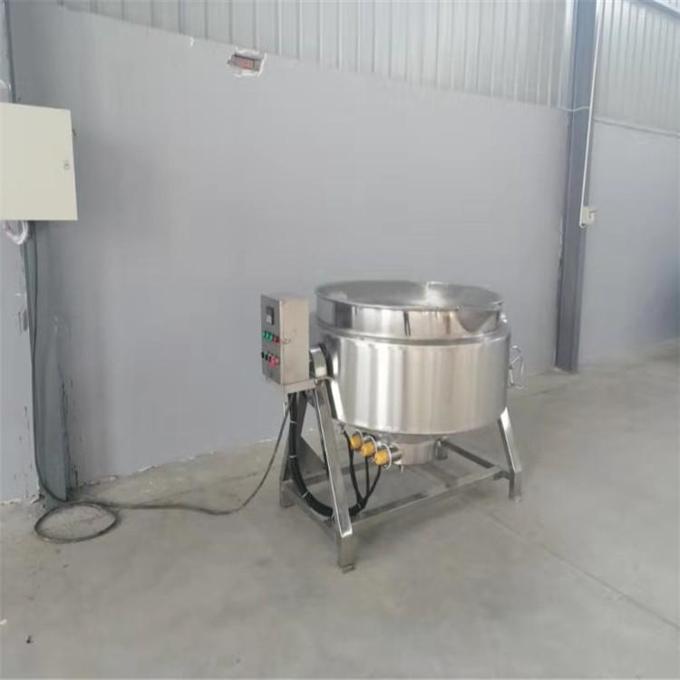 荷霖制作酱料熬制夹层锅 304不锈钢可倾式夹层锅 牛肉罐头熬制锅