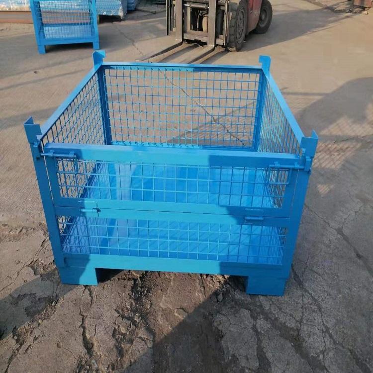 森沃仓储 量身定制 钢制料箱 网格折叠钢制料箱