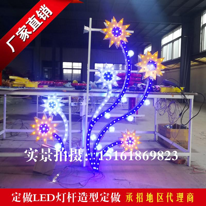 LED灯杆造型灯-定制路灯节日装扮-春节装饰路灯灯杆造型灯-春节乡村亮化山东青岛