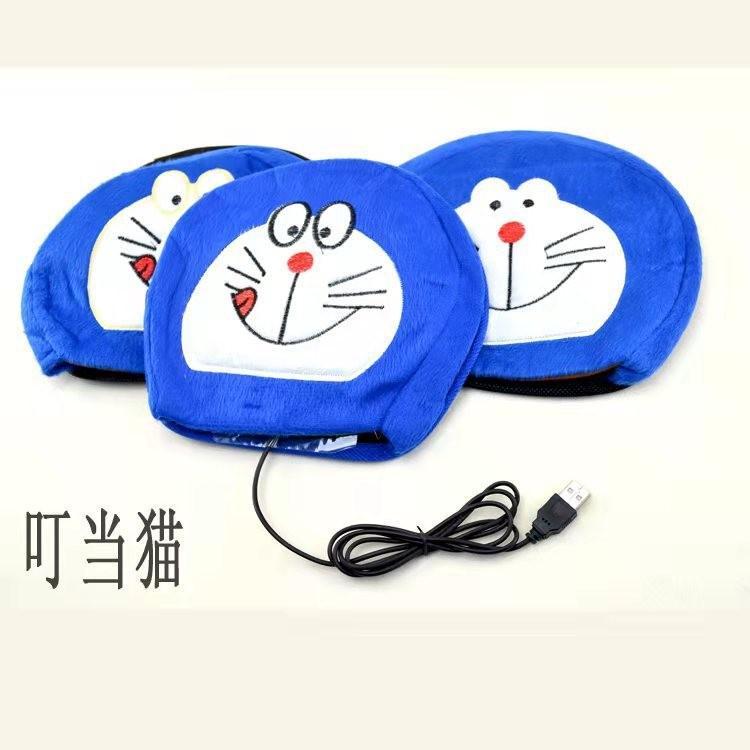 超大發熱鼠標墊帶護腕冬天可愛保暖加熱套卡通USB暖手寶