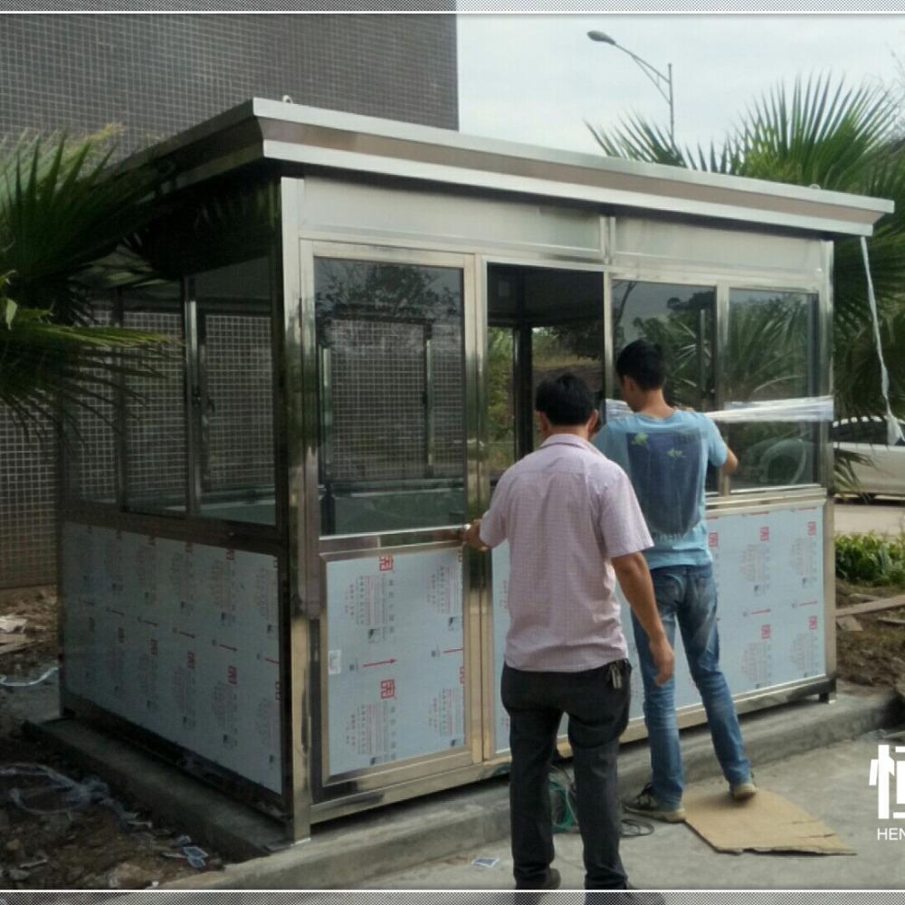 自贡 达州遂宁南充移动岗亭厂家 结构稳定经久耐-全钢管主体结构-内墙加密保温夹芯板