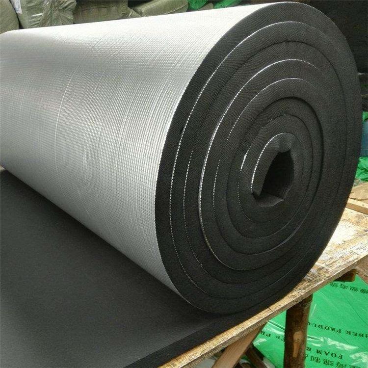 B1级橡塑板 贴面铝箔加工橡塑贴箔楼面屋顶保温隔热河企