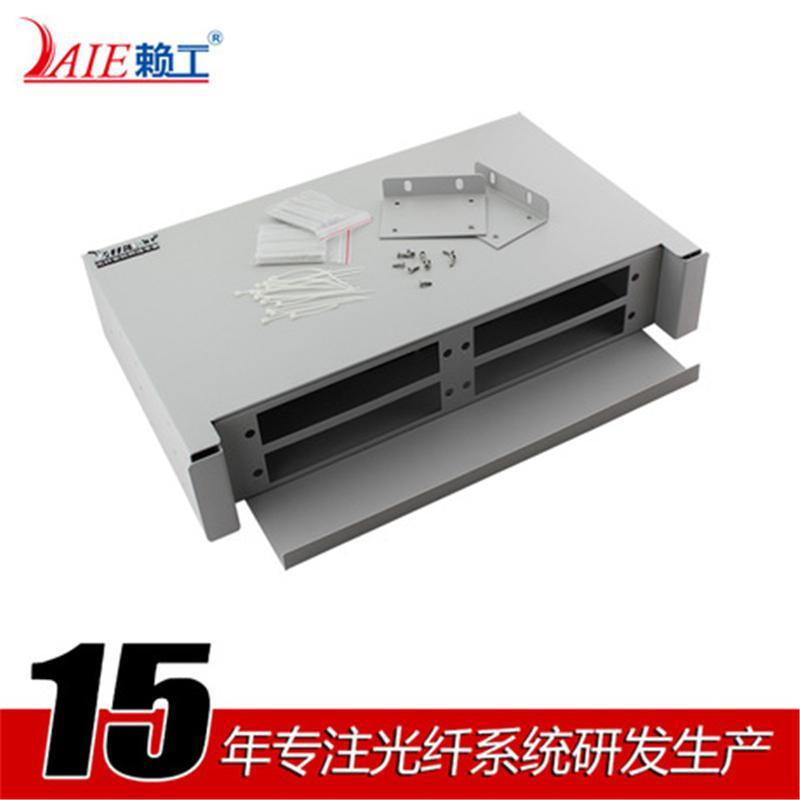 LAIE賴工48口抽拉式光纖配線架機架式光纜接頭盒FCSTSC 廠家直銷