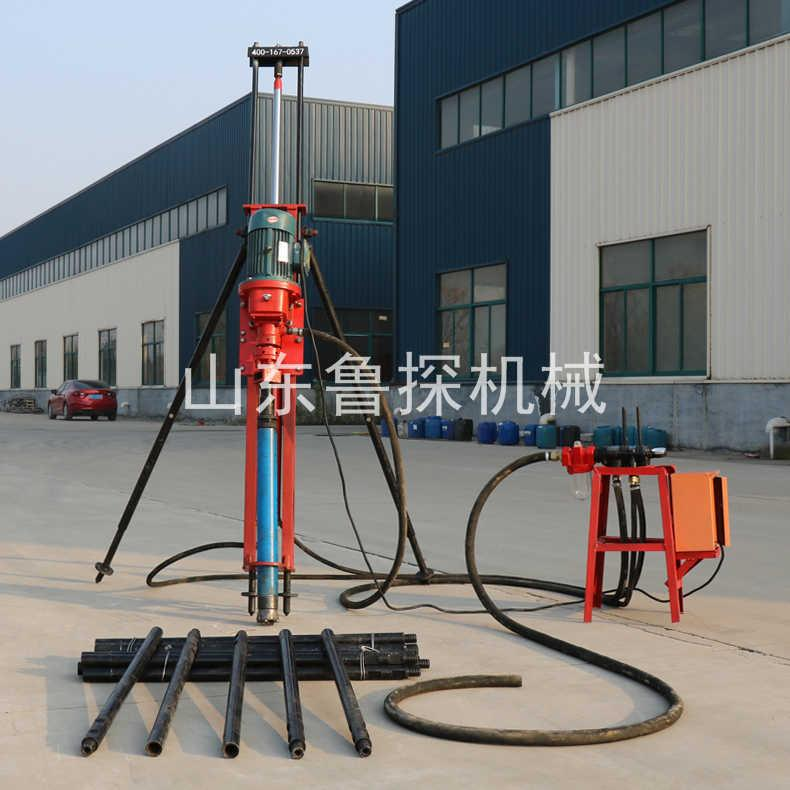 鲁探KQZ-100D气电联动潜孔钻机 冲击式100型潜孔钻机效率高