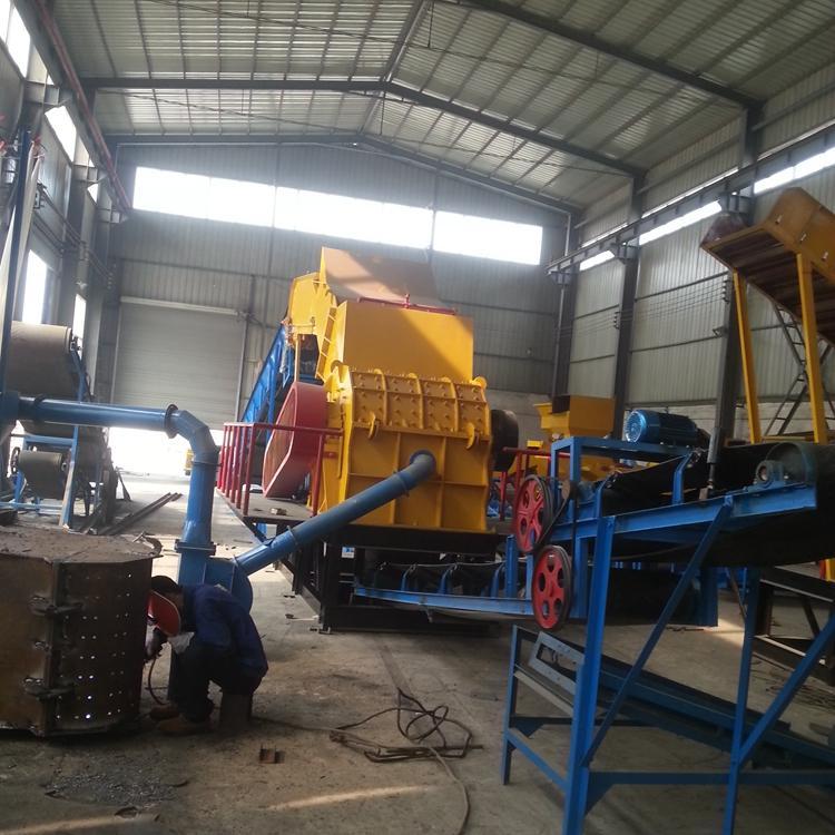 大型编织袋粉碎机800型 塑料布粉碎机整套设备 多功能废旧塑料撕碎机器