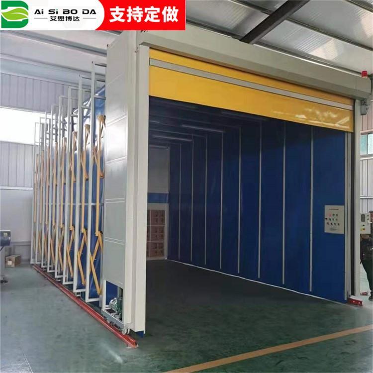无尘节能环保粉尘净化移动式伸缩喷漆房 加工定制