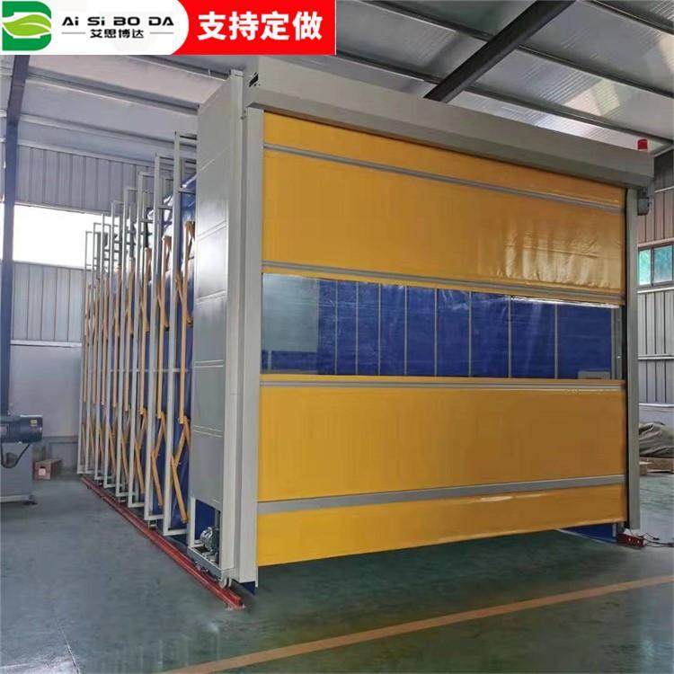 定制无尘节能环保折叠伸缩轨道式喷漆房移动式伸缩喷漆房