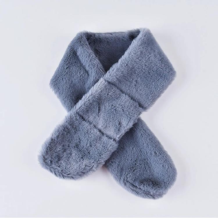 019仿兔毛圍巾女士兒童純色豹紋圓方角圍巾