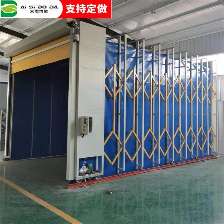 济南 艾思博达厂家生产 移动伸缩房 移动式伸缩喷漆房