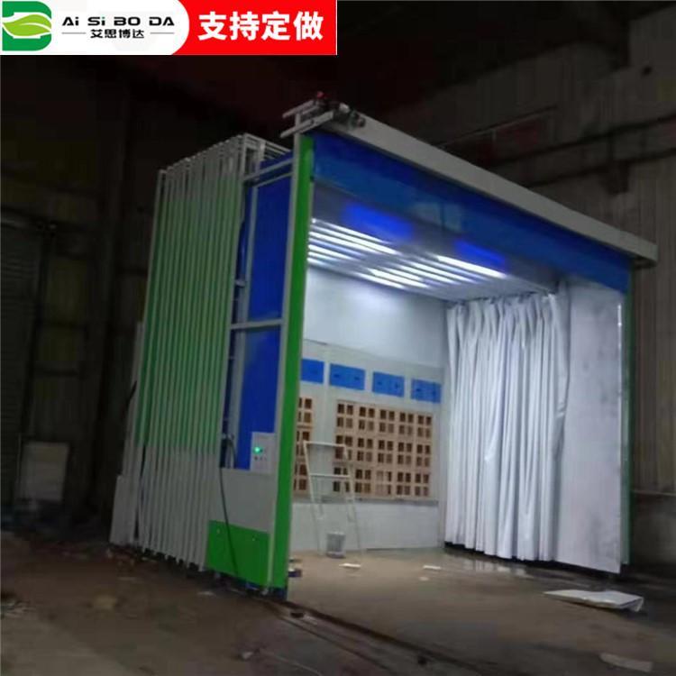 移动式伸缩喷漆房 电自动轨道家具厂折叠环保型打磨房