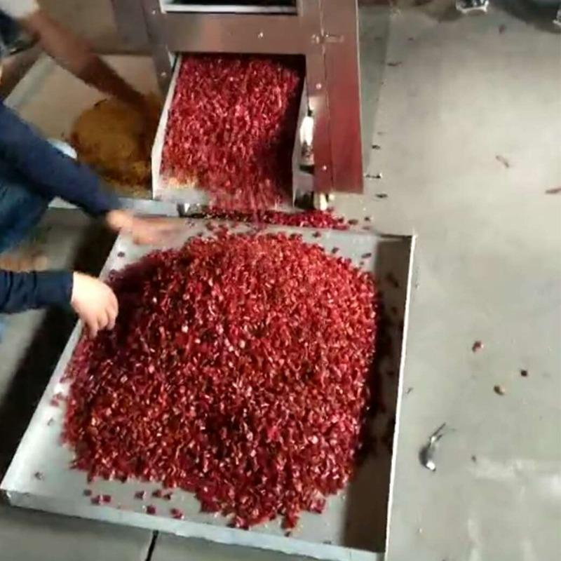 切段机全自动干辣椒鲜辣椒丝机商用皮籽分离