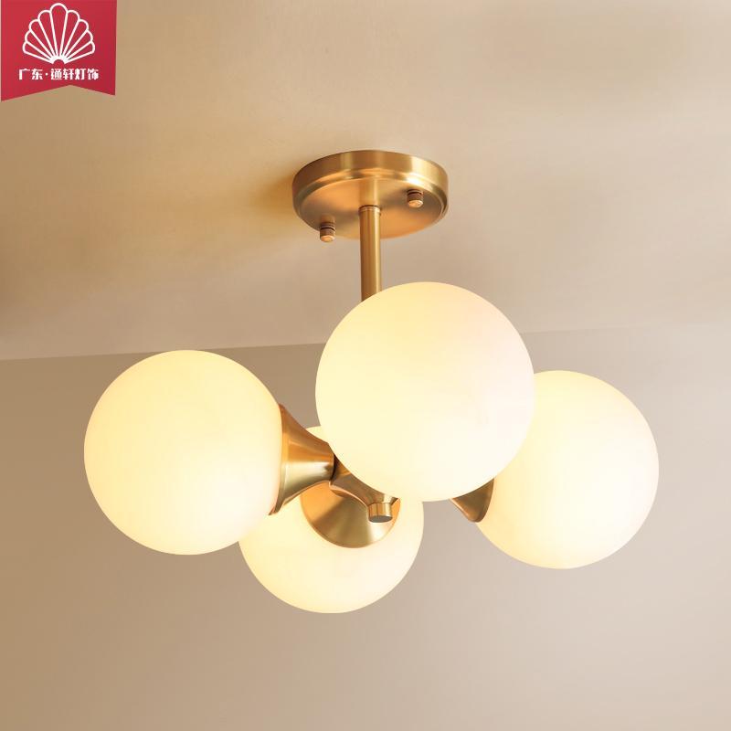 品牌通轩厂家直销北欧灯具卧室吊灯餐厅灯简约卧室门厅灯现代分子灯创意个性LED吊灯