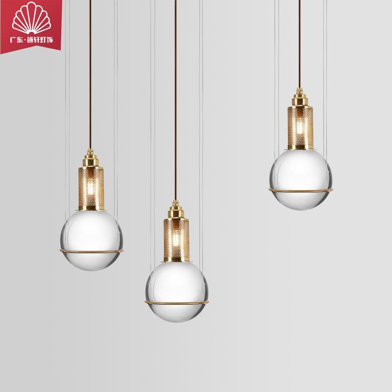品牌通軒廠家直銷現代簡約水晶吊燈個性設計師客廳餐廳樓道玄關燈具創意臥室床頭燈