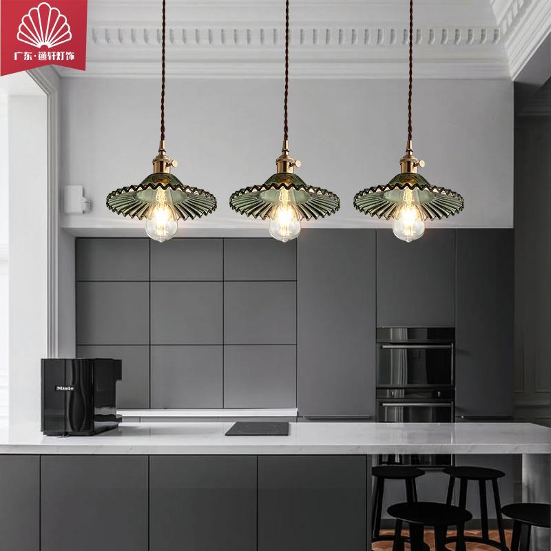 品牌通軒廠家直銷北歐全銅LED吊燈復古懷舊民宿吧臺燈創意藝術臥室餐廳單頭吊燈