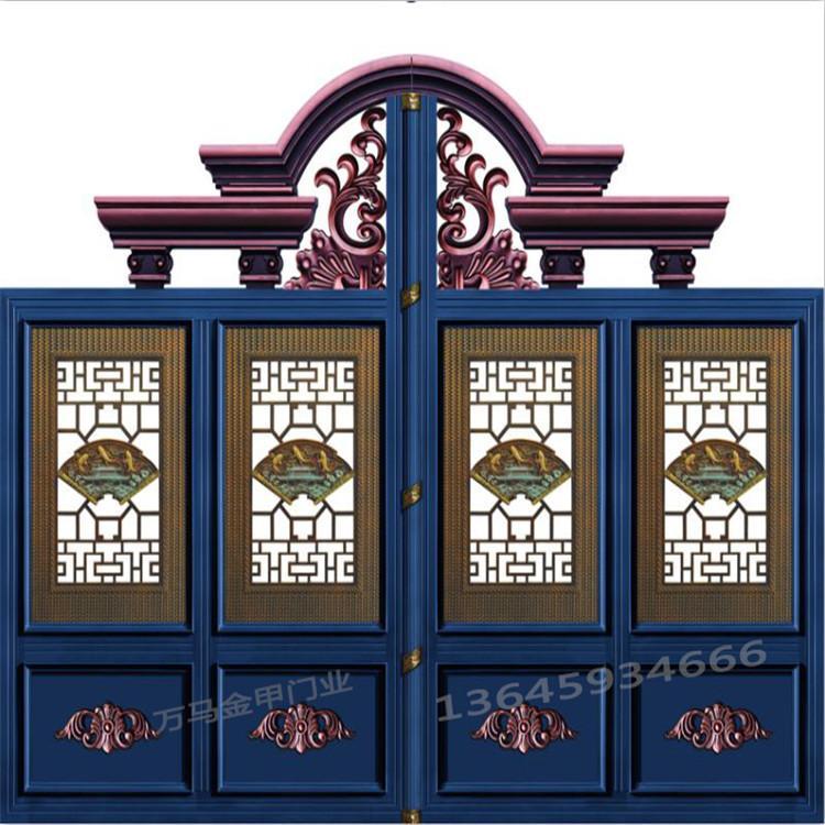 万马金甲门业中式折叠门中式折叠门安装厂家直发