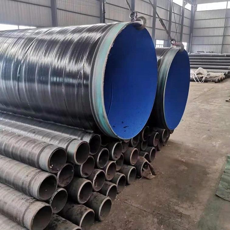 沧州复久 1220*12加强级3PE螺旋内环氧粉末防腐钢管生产厂家 防腐钢管厂家