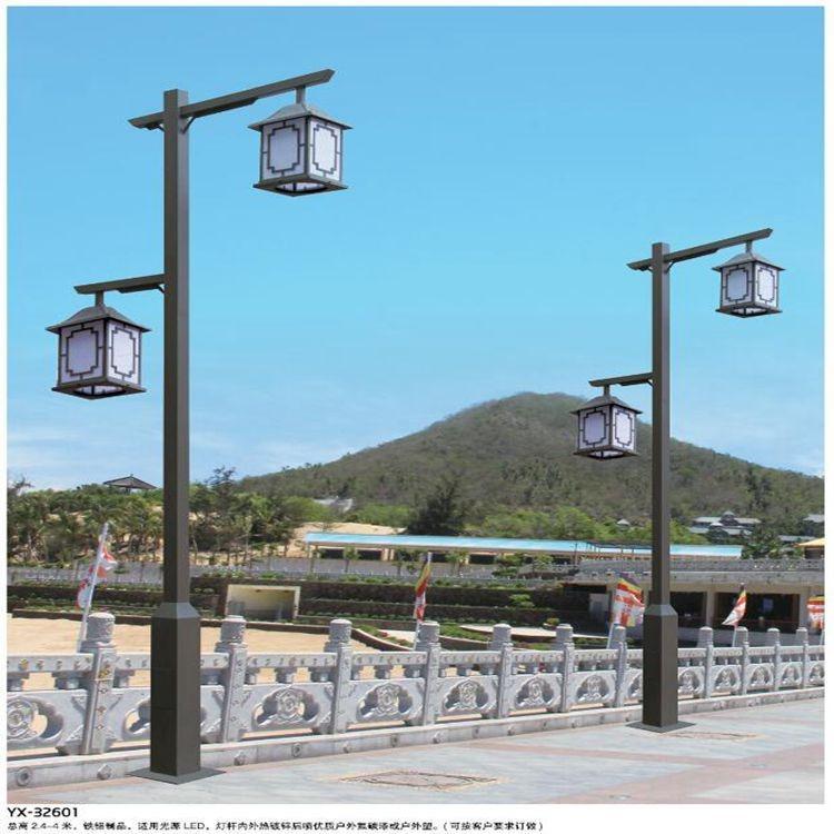 批发中式户外照明LED庭院灯 户外防水3.5米双头仿古欧式园林道路led花园庭院 海光照明