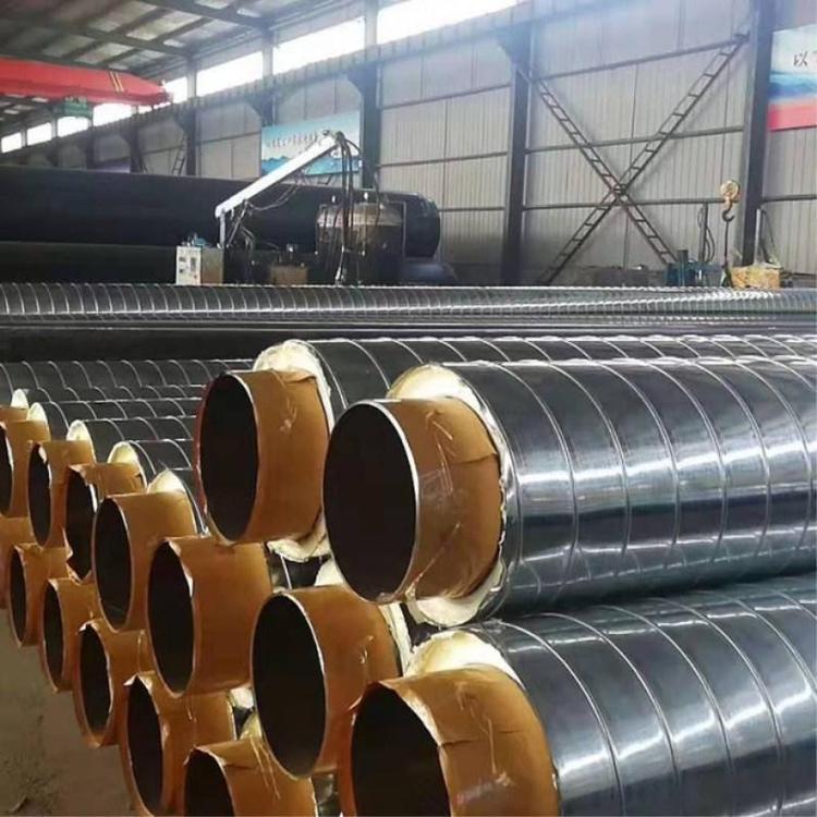荣森管业厂家直营 黑黄夹克聚氨酯保温钢管 室外架空保温钢管 拒绝中间商