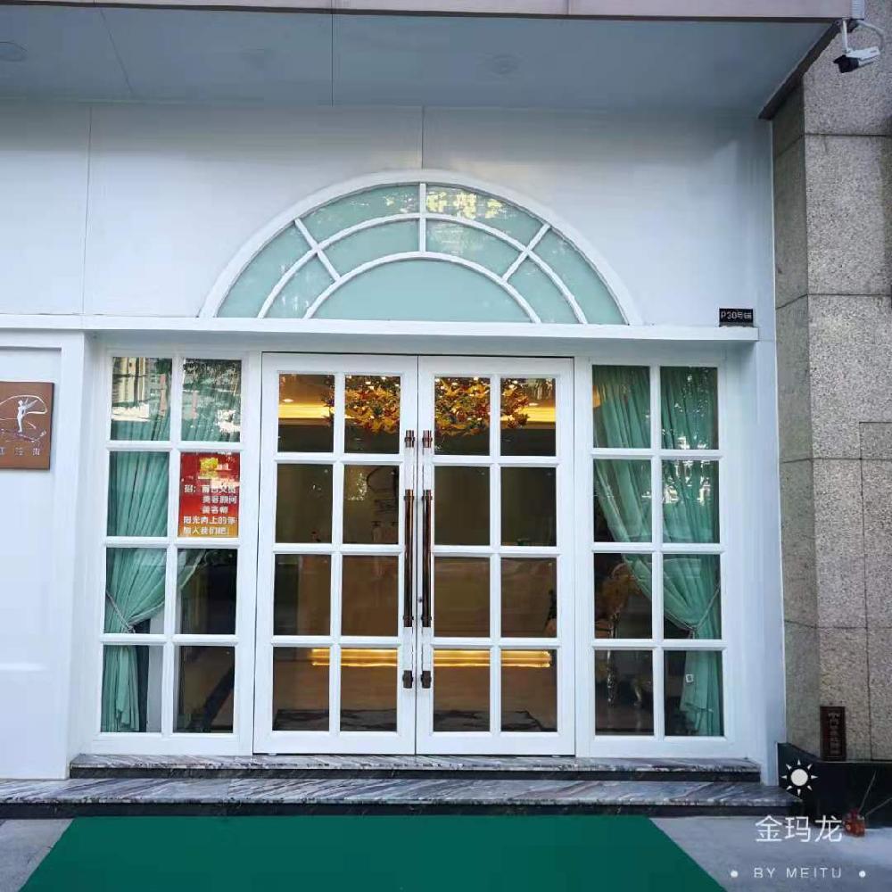 揭阳重型铝合金地弹门价格 重型连锁酒店大门 厂家直销 金玛龙商务门
