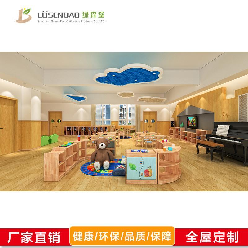 儿童玩具柜-幼儿园实木家具-绿森堡-厂家直销