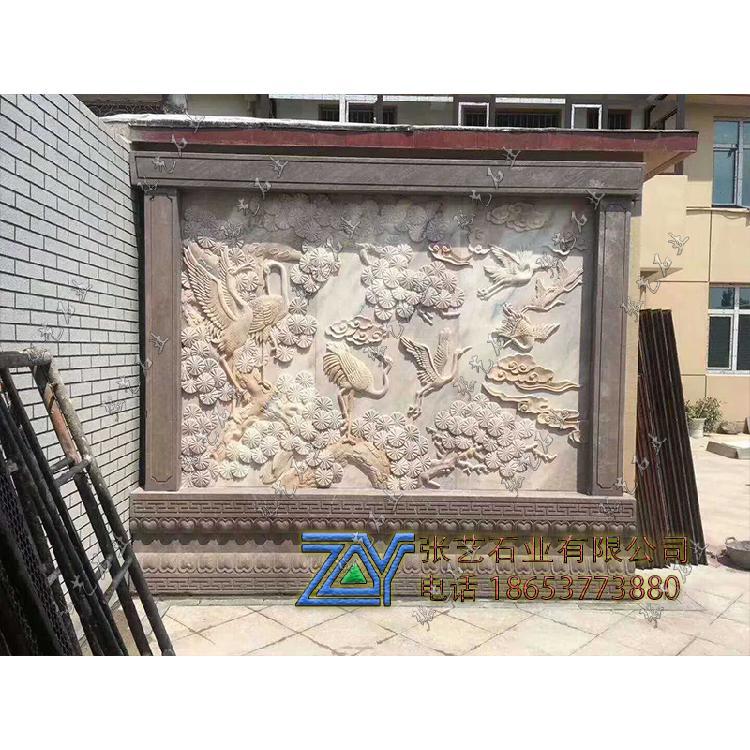 青石石雕壁画定制石雕壁画校园浮雕文化墙-地雕壁画