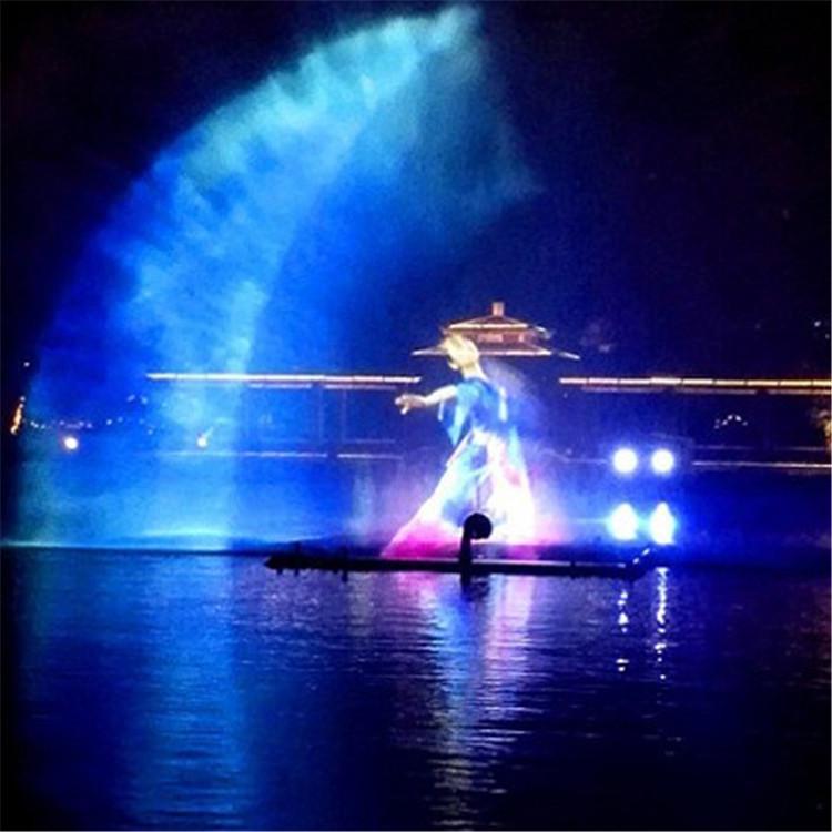 喷泉水幕 激光水幕定做 公园夜游项目 景区夜景项目