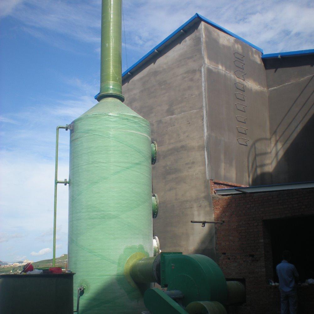 蓝天厂家生产吸收塔喷淋装置水可定做玻璃钢酸雾净化塔环保设备