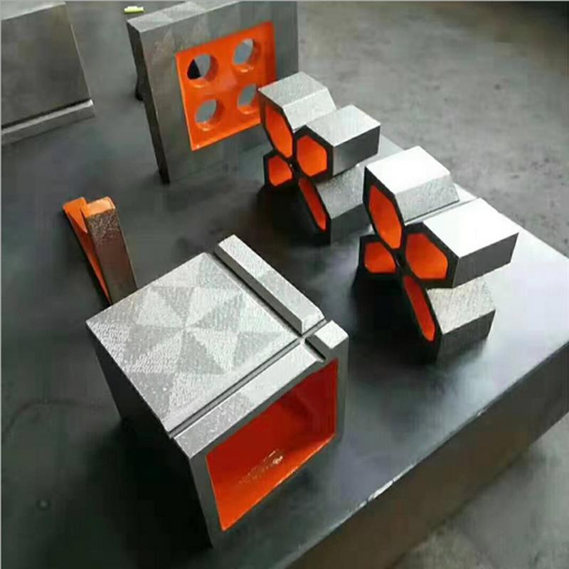 新航直销 铸铁方箱 万能方箱 刮划线测量研检测方箱 机械精密检测方箱