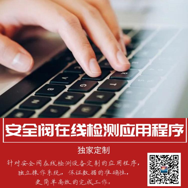 安全阀在线校测仪校验设备应用程序系统操作定制软件 北京朗岄