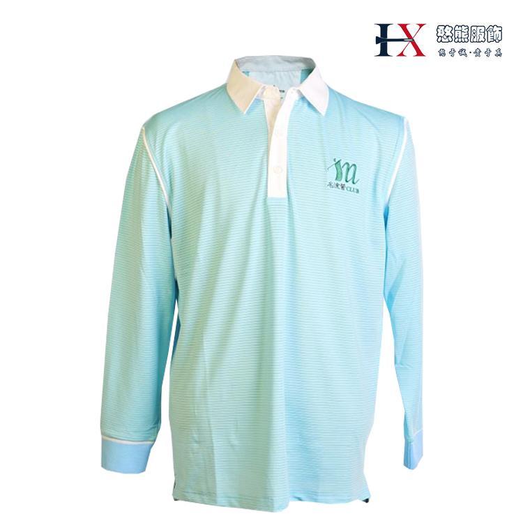 新款时尚潮流憨熊高尔夫服饰男式蓝色长袖T恤正品包邮