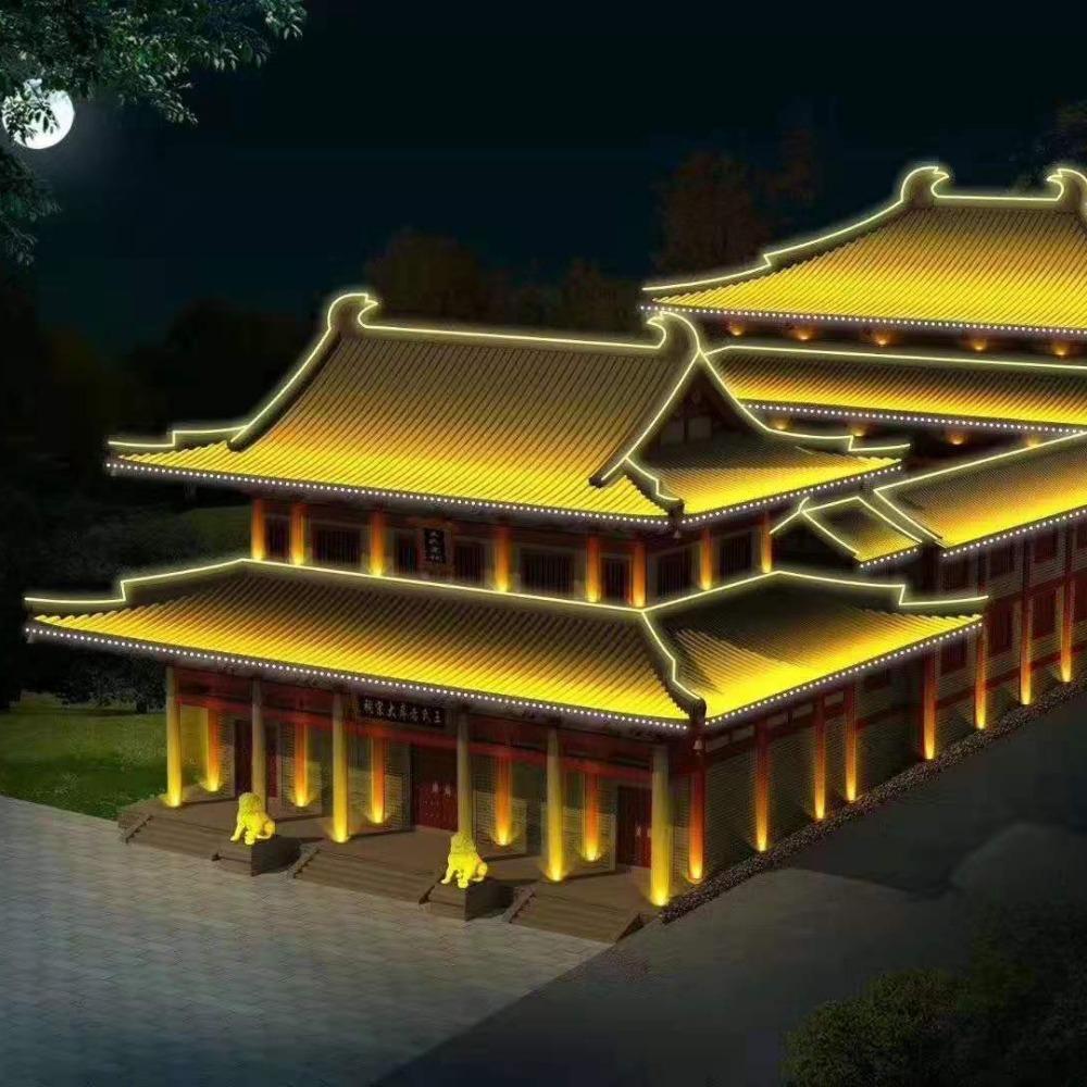 浙江杭州湖州嘉兴金华丽水洗墙灯-点光源生产厂家-小豚照明户外亮化