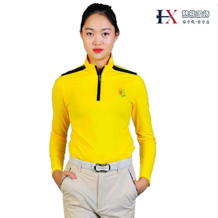憨熊服饰新款女士高尔夫运动休闲T恤时尚修身