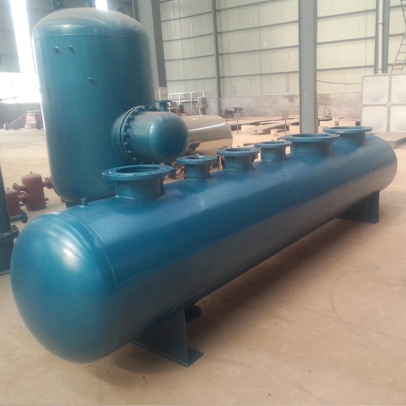 厂家直销支持定制分水器集水器 中央空调 锅炉房 机房用集分 分集涵宇环保科技