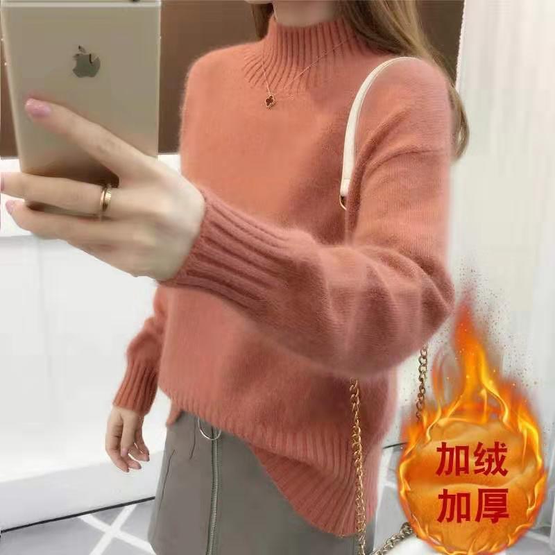 广州便宜服装 地摊女装批发 杂款女士针织衫 库存毛衣 女士毛衣批发