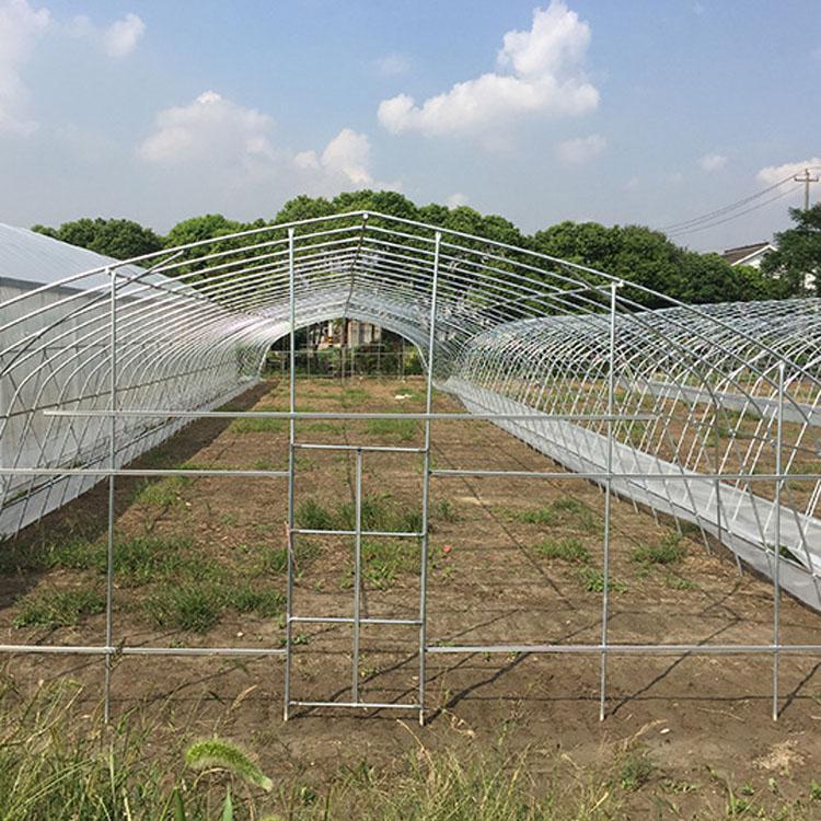 凯盈直销 双拱双膜温室大棚骨架 几字钢 农用双膜钢结构暖式蔬菜大棚骨架的优点