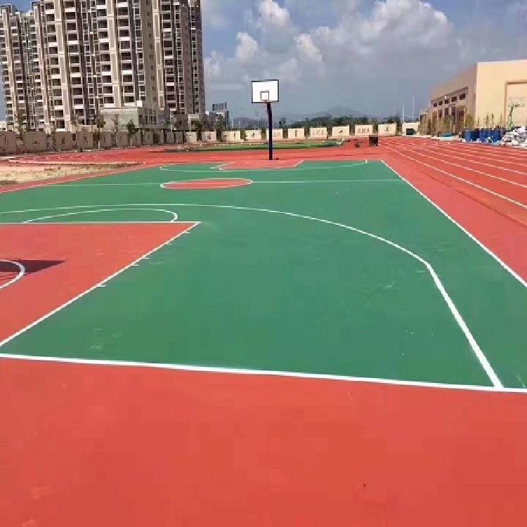贵阳硅PU篮球场定制硅PU篮球场加工厂家直销