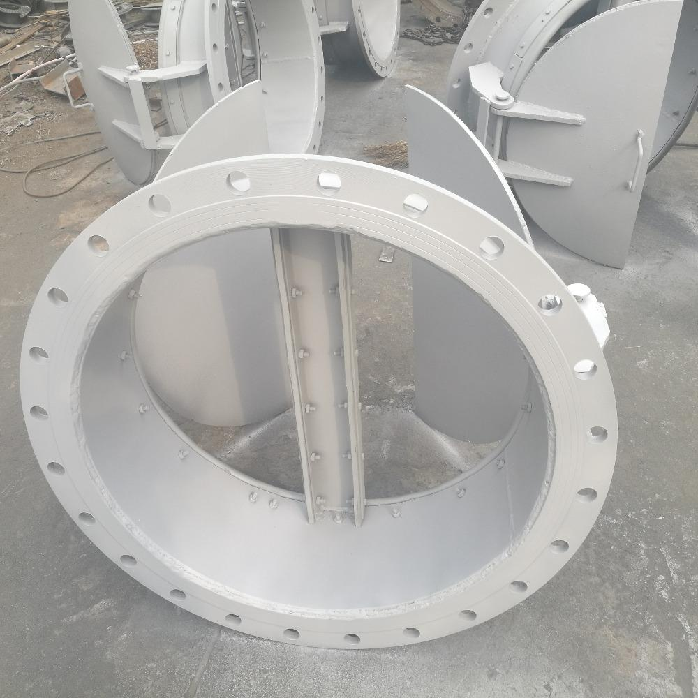 昭洋厂家生产铸铁防潮门 拍门 双开圆拍门 耐腐蚀 安装方便 型号齐全