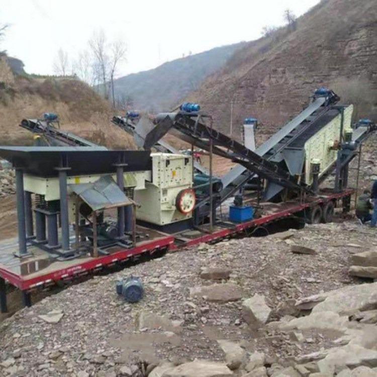 移动制砂机 时产50吨移动破碎站 流动式制砂机 售后无忧回本快 广鑫机械