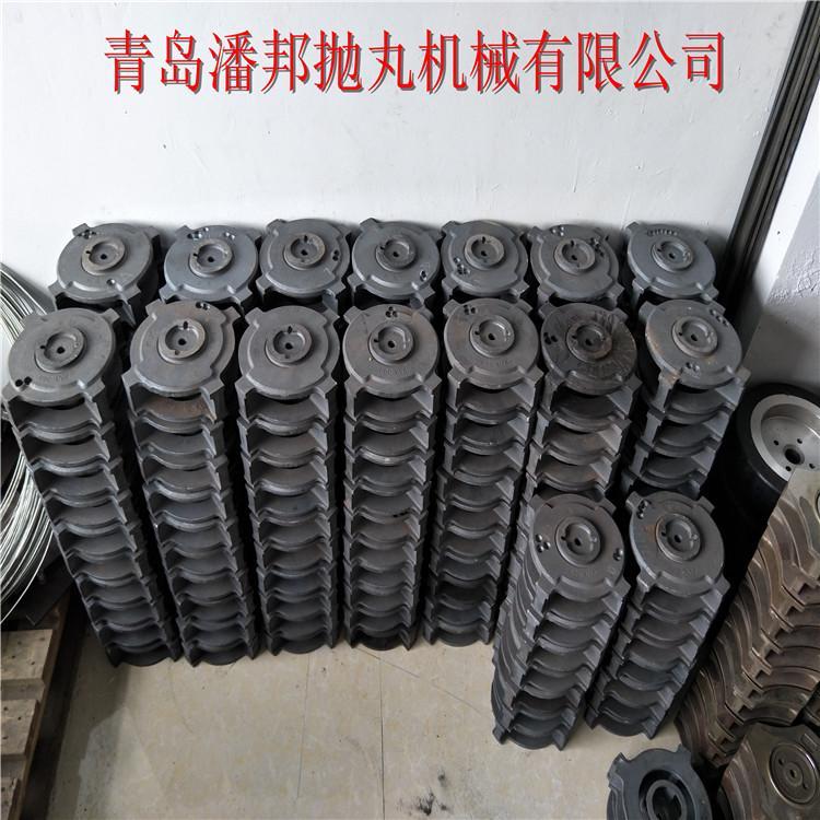 青岛潘邦桥面抛丸机清理钢管表面-PB1-10DT270mm