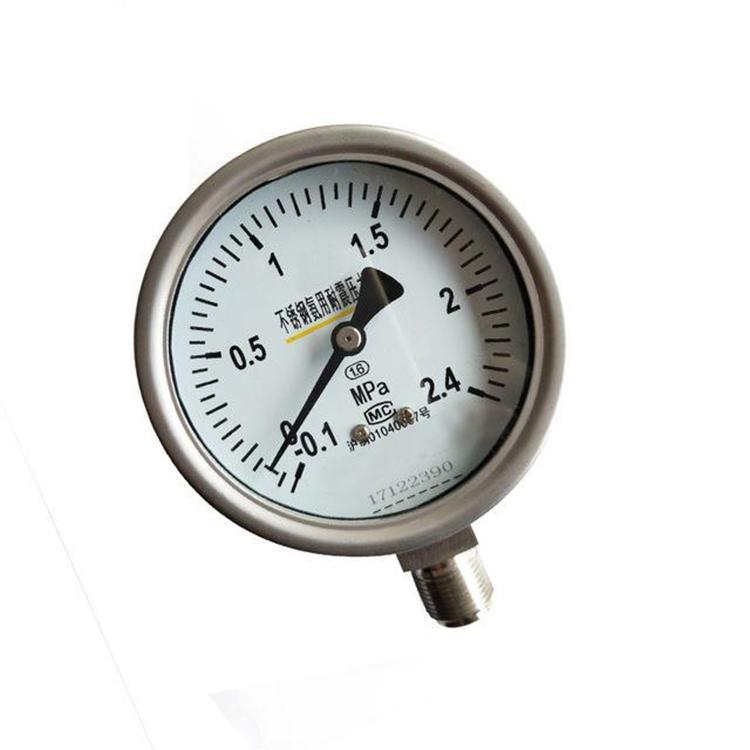 气压表 厂家专业供应耐震压力表 注油式压力表 安徽天康